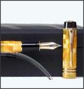 Solid Gold 18KT Nib, Use Parker Quink Ink Cartridges or Ink Bottle, Delivered In Parker Duofold Luxe Box.