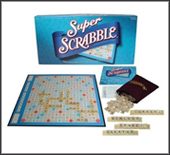 The best-selling word game of all time in a SUPER fun version. Larger game board, 200 tiles and quadruple words & letters. Classic Scrabble game play with More Spaces, More Tiles, and More Scoring add to your fun!